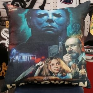 halloween micheal myers throw pillow cover